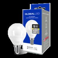 светодиодная LED ЛАМПА GLOBAL G45 F 5W МЯГКИЙ СВЕТ 220V E14 AP (1-GBL-144) (NEW) (от MAXUS NEW)