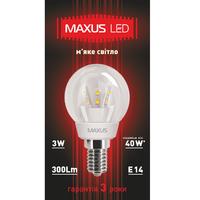 LED ЛАМПА 3W МЯГКИЙ СВЕТ G45 Е14 220V (1-LED-259)