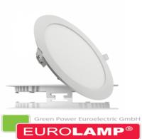 Врезной светодиодный светильник EUROLAMP 18 Вт. (круглый)