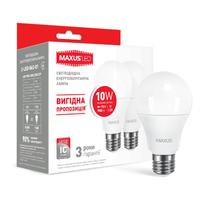 Набор LED ламп MAXUS A60 10W яркий свет E27 (по 2 шт.) (2-LED-562-01)