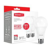 Набор LED ламп MAXUS A65 12W теплый свет E27 (по 2 шт.) (2-LED-563-01)