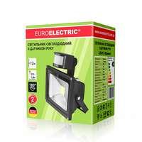 Премиум LED прожектор 10 Вт. с датчиком движения EUROELECTRIC LED COB от EUROLAMP LED-FL-10(sensor)