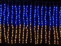 Гирлянда внутренняя CURTAIN сине - желтый провод прозрачный