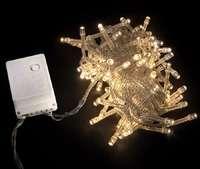 Гирлянда внутренняя DELUX STRING С 100LED 5m теплый белый 4.6 Вт. прозрачный провод