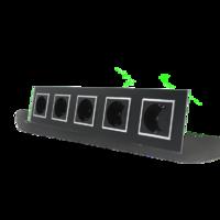 Розетка с заземлением пятиместная 220V Livolo