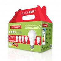 """Промо-набор EUROLAMP LED A60 8W E27 3000K акция """"6в1"""""""