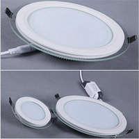 Светодиодный врезной светильник 12Вт с стеклом