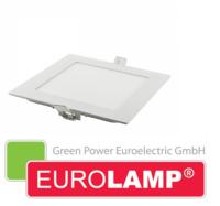Врезной светодиодный светильник EUROLAMP 12 Вт. (квадрат)