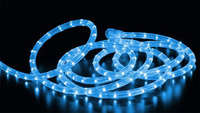 Дюралайт-лента PREMIUM 60SMD силикон голубая 3528 220V 280Lm