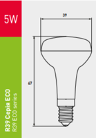 светодиодная лампа EUROLAMP LED Лампа ЕКО R39 5W E14 3000K LED-R39-05142(D)