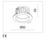 Светодиодный врезной светильник Mistic miniEYEROUND 7W матовый белый, 3000K MSTC-05411160